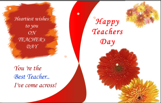 new} happy teachers day greeting cards  free download, Greeting card