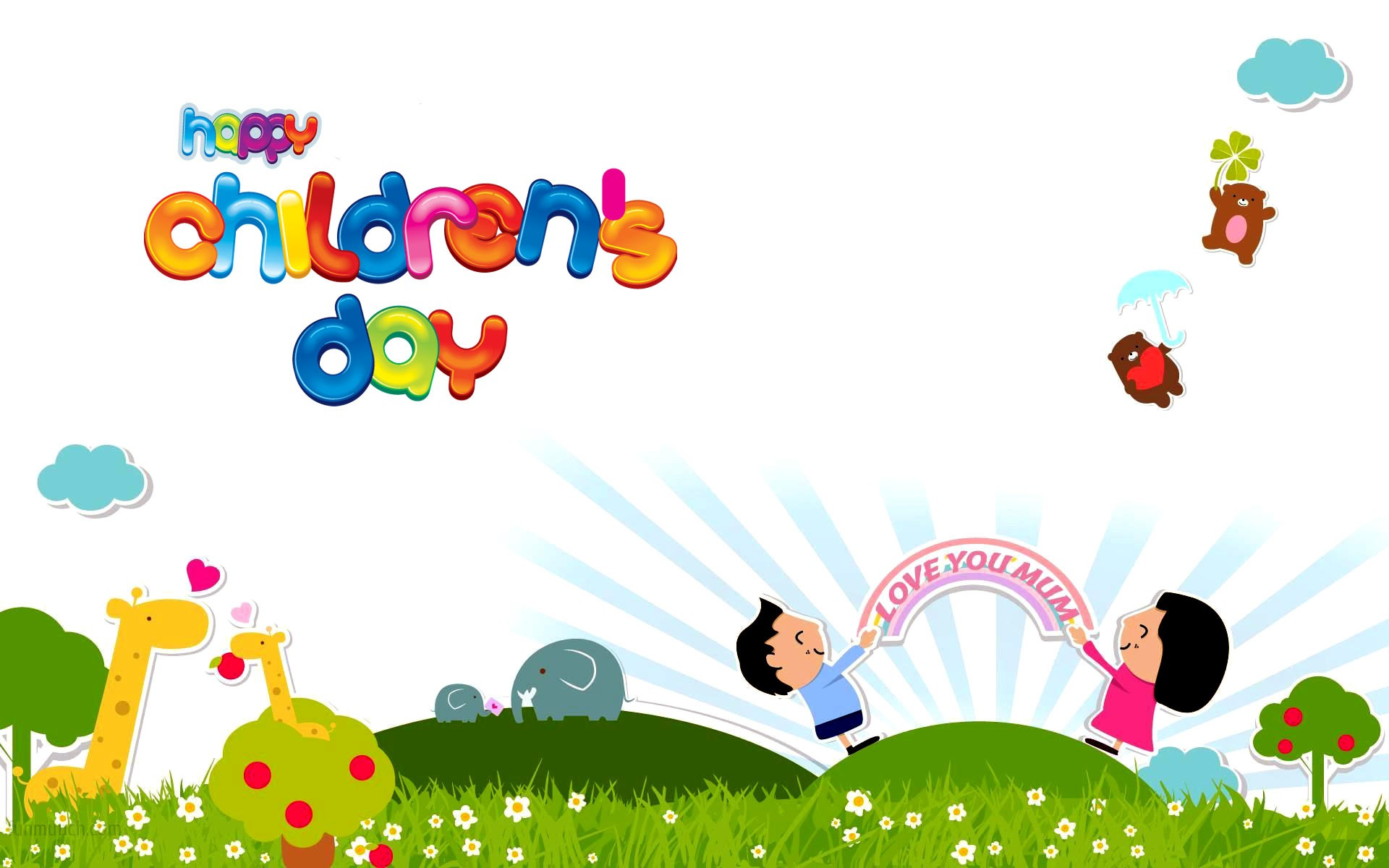 Happy childrens day images hd wallpapers and photos for Kids wallpaper